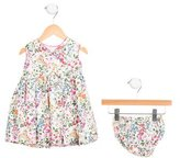 Oscar de la Renta Girls' Floral Print Bloomers Set