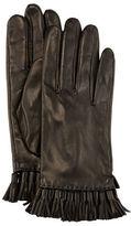 Rebecca Minkoff Leather Mini Tassel Gloves, Aubergine