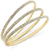 ABS by Allen Schwartz Bracelet Set, Gold-Tone Pave Bangle Bracelets