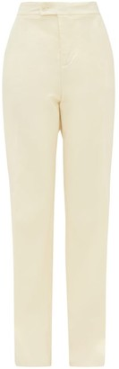 Altuzarra Higbie High-rise Wool-blend Wide-leg Trousers - Cream