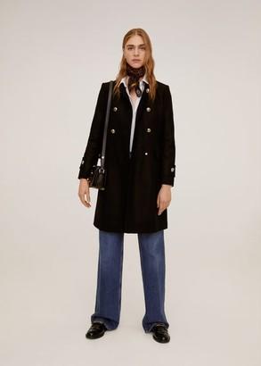MANGO Double-breasted wool coat black - XS - Women