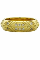 House Of Harlow Pave Crystals Medium Stack Ring