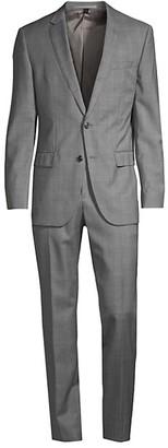 HUGO BOSS Huge Genius Windowpane Wool Suit