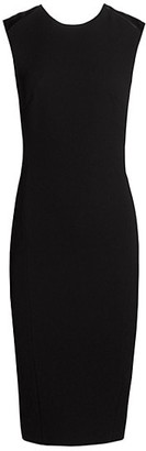 Victoria Beckham Twist Back Sleeveless Sheath Dress
