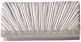 Jessica McClintock Chloe Pleated Satin Clutch Clutch Handbags