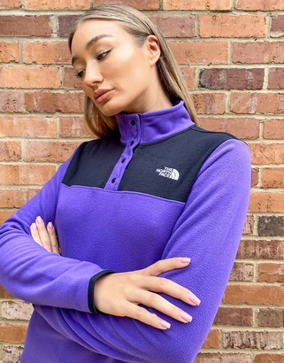 The North Face TKA Glacier snap fleece in purple