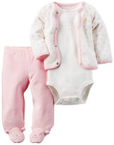 Carter's 3-Piece Babysoft Footed Pant Set