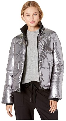 UGG Izzie Puffer Jacket Nylon (Silver Metallic) Women's Clothing