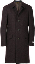 Canali single-breasted fitted coat - men - Silk/Polyamide/Mohair/Alpaca - 48