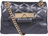 Kurt Geiger Mayfair Mini Leather Cross Body Bag, Gunmetal