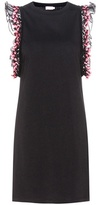 Giamba Cotton Jersey Dress With Lace