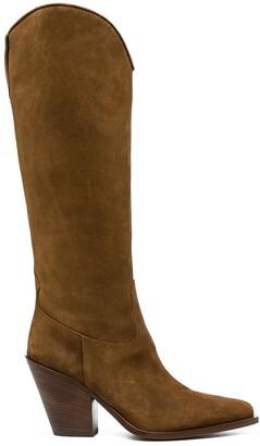 Sartore suede Western boots