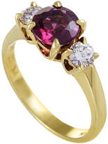 Heritage Tiffany & Co. Tiffany & Co. 18K Yellow Gold 1.75 Ct. Tw. Diamond & Tourmaline Ring