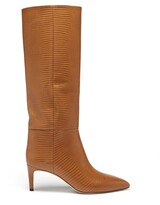 Thumbnail for your product : Paris Texas Lizard-effect Leather Knee-high Boots - Tan