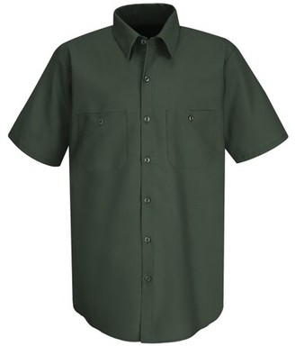 Red Kap Men's Short Sleeve Wrinkle-Resistant Cotton Work Shirt