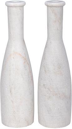Noir Moris Set Of 2 Decorative Candle Holders