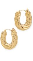 Soave Oro Flat Twisted Earrings