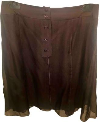 Chanel Purple Silk Skirts