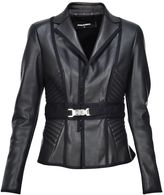DSQUARED2 Belted Leather Jacket