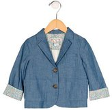 Bonpoint Girls' Denim Wide Lapel Blazer w/ Tags