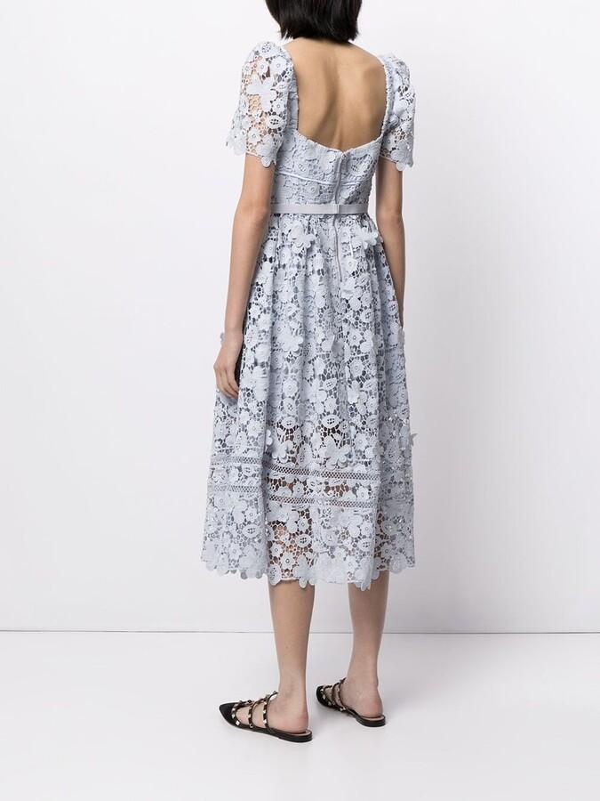 Thumbnail for your product : Self-Portrait Guipure Lace Midi Dress