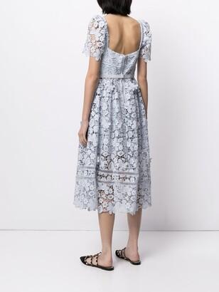 Self-Portrait Guipure Lace Midi Dress