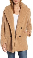 Kensie Women's Teddy Bear Notch Collar Faux Fur Coat