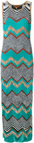 Missoni long zigzag dress - women - Cotton/Viscose - 38