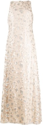 Lauren Ralph Lauren Sequin-Embroidered Sleeveless Gown