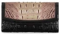 Brahmin Port Sonnet Modern Leather Checkbook Wallet