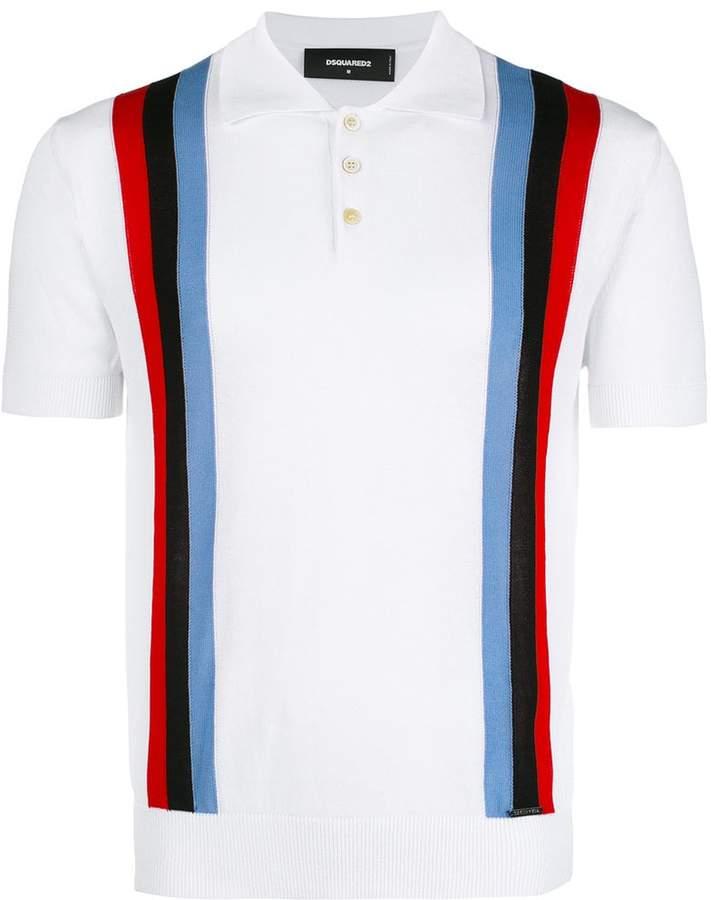 DSQUARED2 striped polo shirt