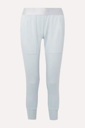 Heroine Sport - Off Duty Stretch Modal And Cotton-blend Jersey Track Pants - Sky blue