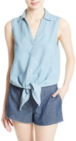 Soft Joie Women's Creta Chambray Tie Waist Top