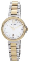 Bulova 98P142 Diamond Gallery Two Tone Quartz Womens Watch