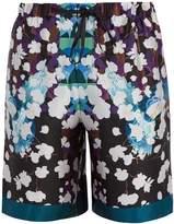 MENG Floral-print silk-satin pyjama shorts