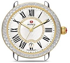 Michele Serein 16 Two Tone Diamond Dial Watch Head, 36mm x 34mm