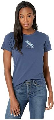 Life is Good Classic Dragonfly Crushertm Tee (Darkest Blue) Women's T Shirt