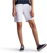Lee 8 1/2 Relaxed Fit Twill Bermuda Shorts-Petites