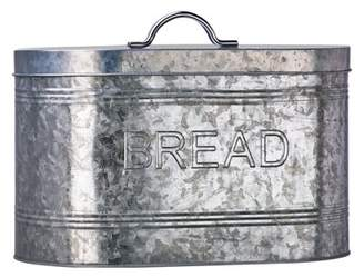 Global Amici Rustic Kitchen Galvanized Metal Bread Storage Canister, 288 oz