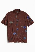 Urban Outfitters Owen Rose Rayon Short Sleeve Button-Down Shirt