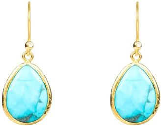 Latelita Petite Drop Earring Turquoise Gold