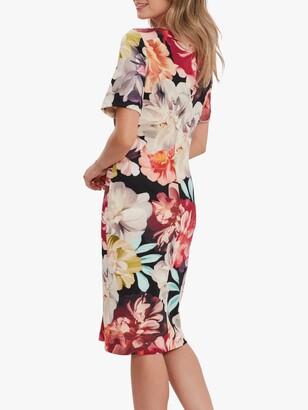 Gina Bacconi Lee Floral Midi Dress, Multi