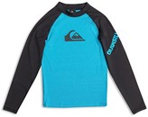 Quiksilver Boys' Colorblock Logo Rash Guard UPF 50+ - Sizes 2T-7