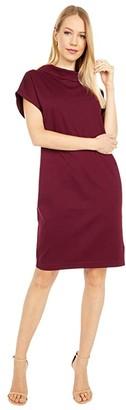Fuzzi Solid Interlock Shirtdress (Vino) Women's Clothing