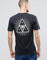 Huf T-shirt With Triple Triangle Eye Back Print