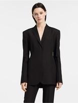 Calvin Klein Silk Paper Faille Darted Jacket