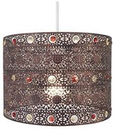 Antique Bronze Gem Moroccan Style Chandelier Ceiling Light Shade Fitting, Plastic/Metal, Antique Bronze
