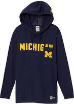 Victoria's Secret Victorias Secret University Of Michigan Long Sleeve V-Neck Campus Tee