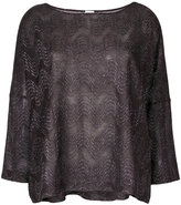 M Missoni wide neck flared top - women - Polyamide/Polyester/Viscose - S