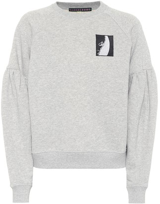 ALEXACHUNG AppliquAd cotton sweater